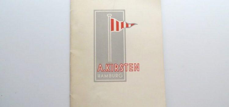 A. Kirsten Shipbroker – Büchlein
