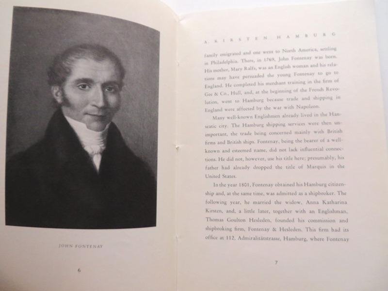 A. Kirsten Reederei Shipbroker John Fontenay