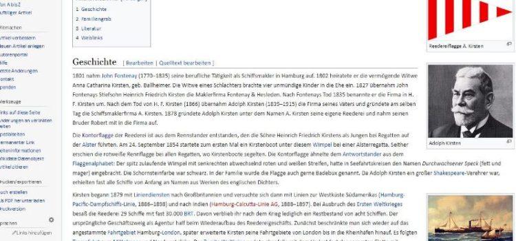 A. Kirsten bei Wikipedia, von Blaubüdel