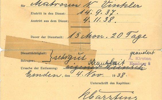 Wer kannte Nikolaus Winkler von der MS DESDEMONA?