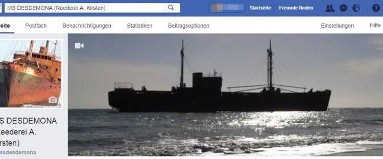 MS DESDEMONA auf Facebook